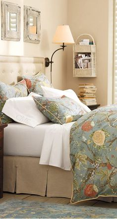 Wells Palampore Duvet #bedrooms - love the box pleated bedskirt