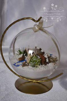 ImaginArtis: Kolejne bombki 3D Christmas Balls, Terrarium, Snow Globes, Decoupage, Crafts, Home Decor, Crowns, Succulents, Christmas Baubles