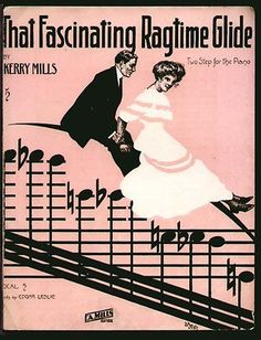 "Vintage Sheet Music- ""That Fascinating Ragtime Glide"""