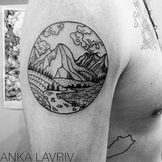 Geometric Mountain Tattoo scenery mountain tattoo
