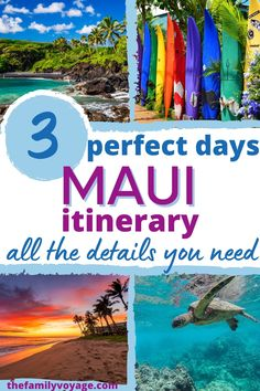 Can you only manage 3 days on Maui? Don't let that stop you from having an amazing trip! With this perfect Maui 3 day itinerary, you'll hit all the highlights and still be ready to come back for more. This Maui itinerary also helps you choose where to stay on Maui, the best Maui activities you should book in advance, and Maui foods you can't miss. Don't miss the best Maui attractions and hidden gems!