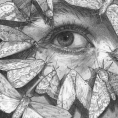 "Etymology: from Latin lacrima, ""tear"" + Greek phageîn, ""to eat"". Dylan Moore - Lachryphagy: Sorrows That Flit Away] "" Art Sketches, Art Drawings, Photographie Portrait Inspiration, A Level Art, Art Et Illustration, Gcse Art, Art Plastique, Art Sketchbook, Traditional Art"