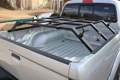 Truck bed rack for roof top tent Diy Roof Top Tent, Top Tents, Truck Tent, Truck Camping, Truck Accesories, Vehicle Accessories, Vw Amarok, Truck Mods, Toyota Trucks