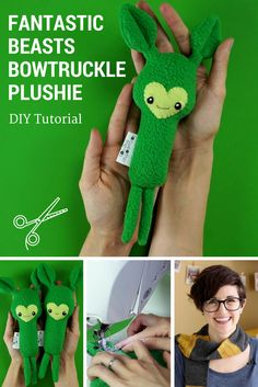 Make your own DIY bowtruckle plushie just like Pickett in Fantastic Beasts! Source by laurenfairwx Harry Potter Plush, Harry Potter Birthday, Harry Potter Love, Sewing Projects For Kids, Sewing Crafts, Harry Potter Activities, Plushie Patterns, Geek Crafts, Costumes