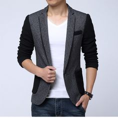 Find More Blazers Information about blazer masculino 2016 autumn winter mens suit jacket fashion patchwork color woolen plus size slim fit business casual suit 5XL,High Quality jackets,China suit thong Suppliers, Cheap jacket suit men from Eric's on Aliexpress.com
