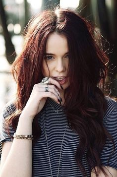 Acacia Brinley red hair - definitely a fall or winter color.. Especially goes with pale skin