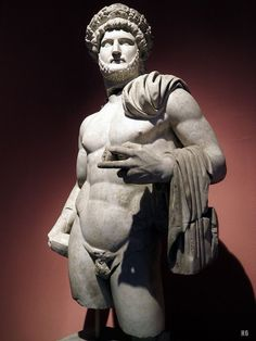 Hadrian. Statue of the Emperor Hadrian wearing the Corona Civica. Antalya Museum. Turkey