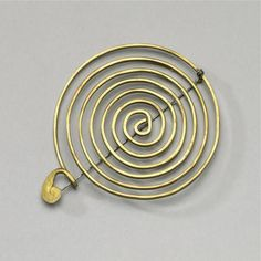 Simple brass pin, Calder