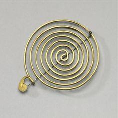 Simple brass pin, Calder