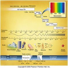 The electromagnetic spectrum ranges from radio waves at one extreme to gamma rays at the other extreme.