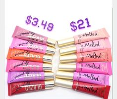 Dupe Alert!! LA Girl Glazed Lip Paints are a dupe for Too Faced Melted Lipgloss