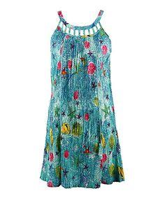 Green Seaside Cover-Up Dress