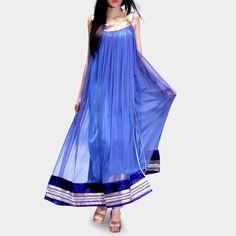 Side Slit Contemporary Kameez  www.tadpolestore.com #women #fashion #clothes #designer #fusionwear #blue #dresses #tadpolestore