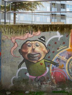 Bruxelles - peinture murale/graff