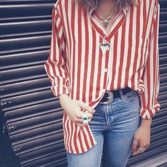 Regram from @abbey_worrallo in her @peekaboovintage stripes  #peekaboo #vintage #topshop #regram #oxfordstreet #oxfordcircus #london #blogger #fashion #style #stripes #sundaystripes #ootd #peekaboovintage # Peekaboovintage.com