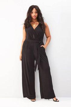 3e34eac7890 Hualong Sexy Loose Wide Leg Plus Size Black Jumpsuit