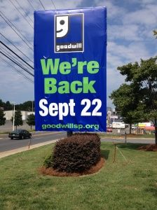 Goodwill's South Boulevard location in Charlotte re-opens this Saturday after being burned in February. Congrats!
