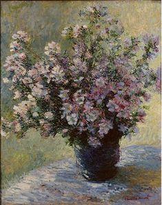 Claude Monet, vase-of-flowers