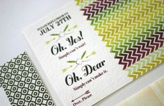 Wedding Invitations Sundays: Chevron Wedding Invitations