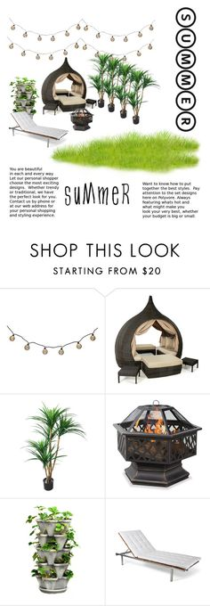 """""""Summer Time """" by stylebychloemarie ❤ liked on Polyvore featuring interior, interiors, interior design, home, home decor, interior decorating, TradeMark, Skargaarden and summeroutdoordining"""