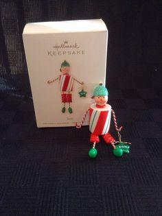 Preowned 2008 Hallmark Keepsake Peppermint Son Christmas Tree Ornament Fun