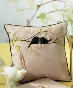 Love bird wedding accessories for your dove and love bird wedding theme. Find a variety of dove and love bird wedding accessories. Ring Bearer Pillows, Ring Pillows, Cute Pillows, Love Birds Nest, Diy Originales, Rustic Ring Bearers, Theme Nature, Bird Pillow, Love Birds Wedding
