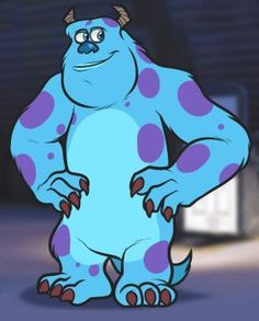 how to draw sulley from monsters inc