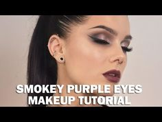 Smokey Purple Eyes - Linda Hallberg Make up tutorials - YouTube