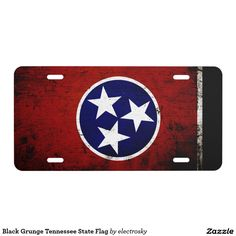 Black Grunge Tennessee State Flag  - Car Floor Mats License Plates, Air Fresheners, and other Automobile Accessories