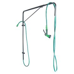 """<ul> <li> Great addition to any wash stall</li> <li> Overhead hose eliminates hose kinks and tangles</li> <li> Ensures safety to horse and owner</li> <li> Boom is adjustable 4' to 6' and rotates 180 degrees</li> <li> Powder coated tubular steel resists chipping and rusting</li> <li> Some assembly required. 18 lbs.</li> <li> Mounting brackets included. Screws are<strong> not</strong> included.</li> <li> <strong><a href=""""http://www.sstack.com/resources/sstack/files..."""