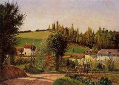 Path of Hermitage at Pontoise - Camille Pissarro 1872