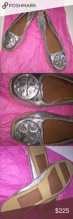 New !! Tory Burch Silver Leather Flats size 10 New !! Never been worn Beautiful Tory Burch Silver Flats in size 10. Soft leather. Great quality and condition. Bundle and save 😊 Tory Burch Shoes Flats & Loafers