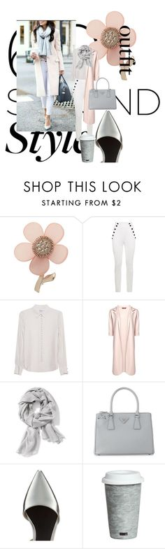 """job interview PowerUp: blush & silver"" by kyliebelinda ❤ liked on Polyvore featuring Miss Selfridge, Tommy Hilfiger, Frame Denim, Old Navy, Prada, Fitz & Floyd, jobinterview and 60secondstyle"