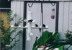 home projects PVC Pipe projects. Youll need a drill or pipe cutter. Caps for the ends of the pipes. Chain to hang it with. Pvc Pipe Crafts, Pvc Pipe Projects, Diy Projects Cans, Cool Diy Projects, Outdoor Projects, Home Projects, Diy Crafts, Welding Projects, Diy Jardin