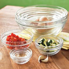 10-Piece Glass Bowl Set   Williams-Sonoma - One of my favorite wedding gifts that we received!