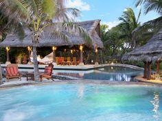 Richard Branson's Necker Island (whole island, $42,000/night; individual villa, $27,000/night)