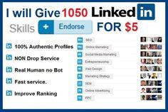 Get Over 1000 LinkedIn Skills endorsements in 24 Hours