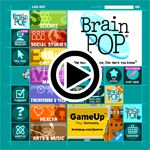 FREE BrainPop~  Animated, curriculum-based content that supports educators and engages students - in school, at home, and on mobile devices. Resources include movies, quizzes, games, mobile apps, experiments, activity pages, and much more covering hundreds of topics within Math, Science, Social Studies, English, Technology, Arts & Music, and Health. All content is aligned to and searchable by state standards including Common Core.