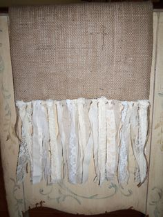 Anthropologie Inspired Burlap Table Runner with Shabby Chic Fringe, Country French, Americana, Rustic, Wedding, Home Decor. $29.00, via Etsy.