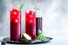Blackberry Hibiscus Spritzer with Tarragon #mocktail #recipe #hibiscus
