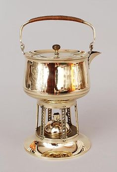 Found on www.botterweg.com - Brass teapot on stove design execution by Jan Eisenloeffel 1876-1957 / the Netherlands ca.1905