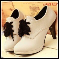 ENMAYER Fashion Women Shoes High Heels Platform Brand New Designer Dress Casual Pumps large size 34-43 Free shipping $55.46 - 59.46