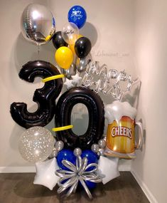Our line of Gold Bouquets ® are completely exclusive for your celebration. 30th Birthday Balloons, Birthday Balloon Decorations, Graduation Decorations, Man Bouquet, Gold Bouquet, Boquet, Baby Balloon, Balloon Gift, Balloon Bouquet Delivery