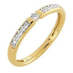 Paletti Jewelry - Amelie (timanttisormus, K100-403KK) NordicJewel.fi Love Bracelets, Cartier Love Bracelet, Bangles, Diamond Jewellery, Diamond Rings, Amelie, Pendants, Earrings, Gold