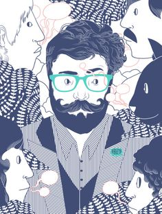 Hipster Illustration | #graphicdesign #illustration