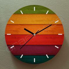 Handmade Wood Furniture, Wooden Pallet Furniture, Wall Clock Wooden, Wood Clocks, Homemade Clocks, Clock Face Printable, Home Design Living Room, Modern Clock, Wall Clock Design