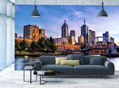 Photo Wallpaper MURAL POSTER Melbourne River Skyline