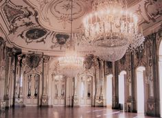 Dawn Court // Ballroom of Queluz National Palace, Portugal. ""