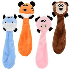 Skinny Plush Animal Ball Dog Toys