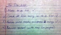 Hahaha my type of to-do list x)